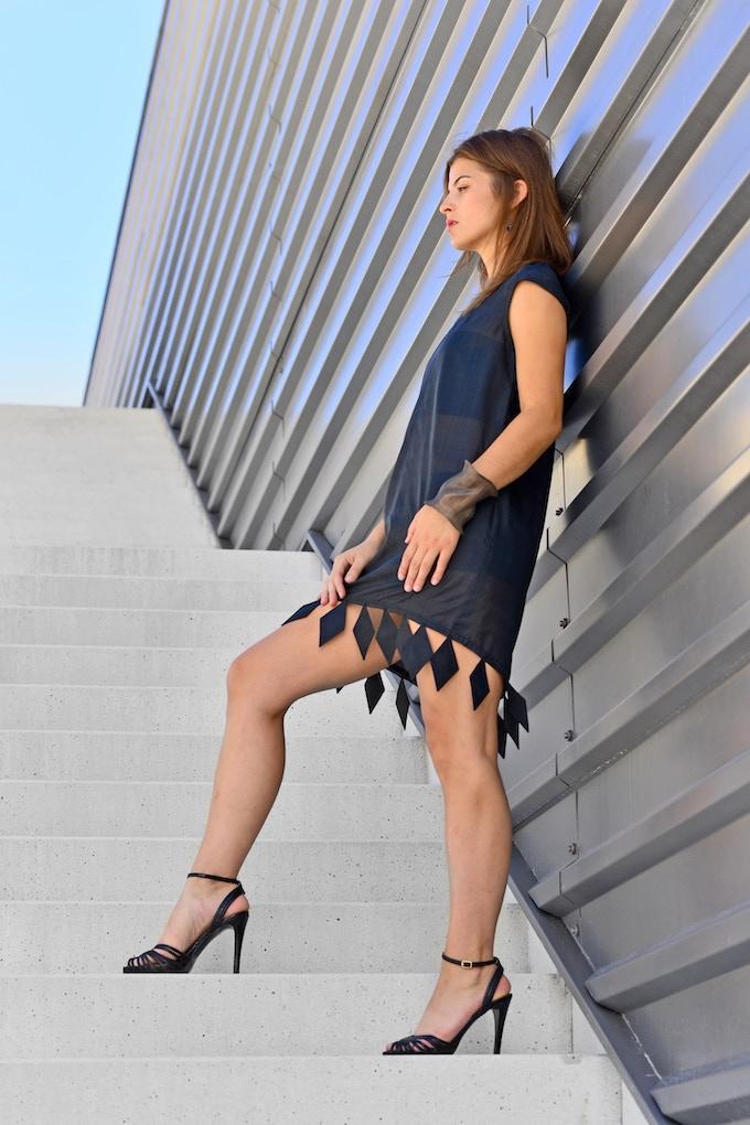 Anya Tunic Dress in Organic Silk Taffeta