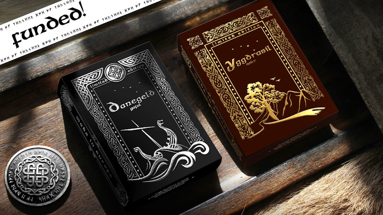 Norse playing cards designed in the heart of Scandinavia. Manufactured in two limited edition print runs with deluxe features.