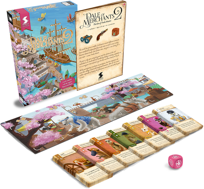 Dale of Merchants 2: a deck building game where you tear up your deck as fast as you build it. Astounding art featuring characterful animalfolks.