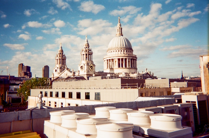 St Paul's Cathedral by Michelle Goldberg. In 2016 MyLondon exhibition