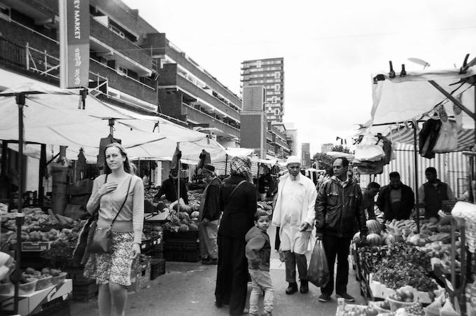 Market scene by Goska Calik. In 2016 MyLondon exhibition