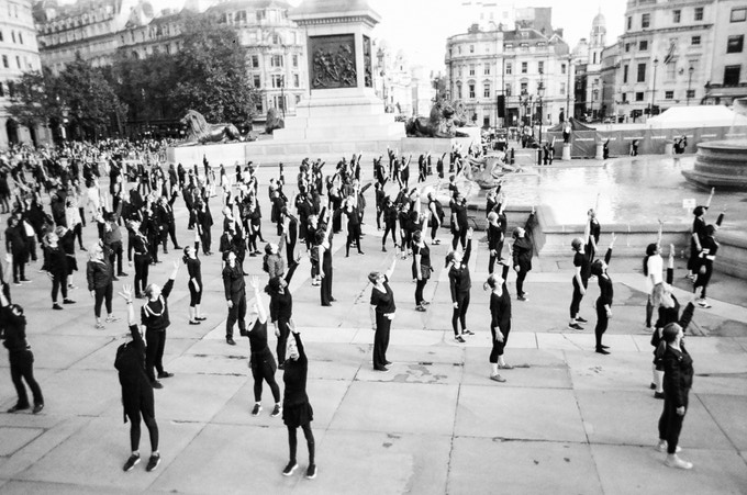Group stretch by Siliana. In 2016 MyLondon exhibition