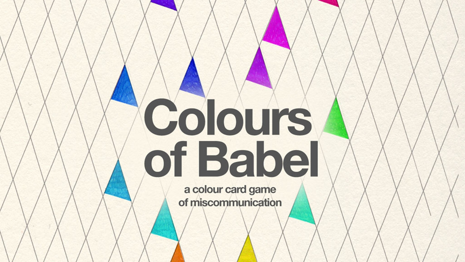 Colours of Babel - a colour card game of miscommunication
