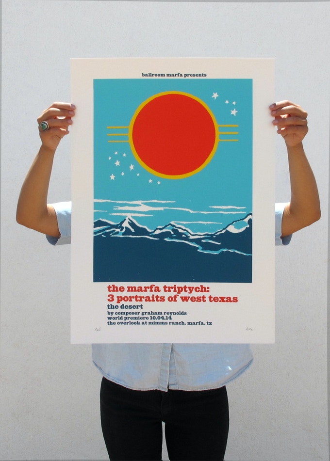 The Desert poster designed by Noel Waggener available at the $50 level!