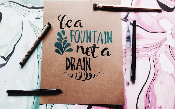 OPTION A: be a fountain, not a drain