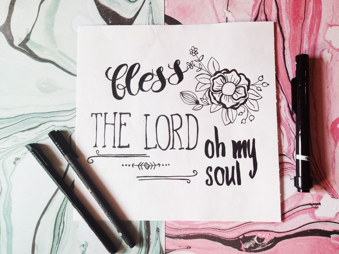 OPTION C : bless the Lord, oh my soul