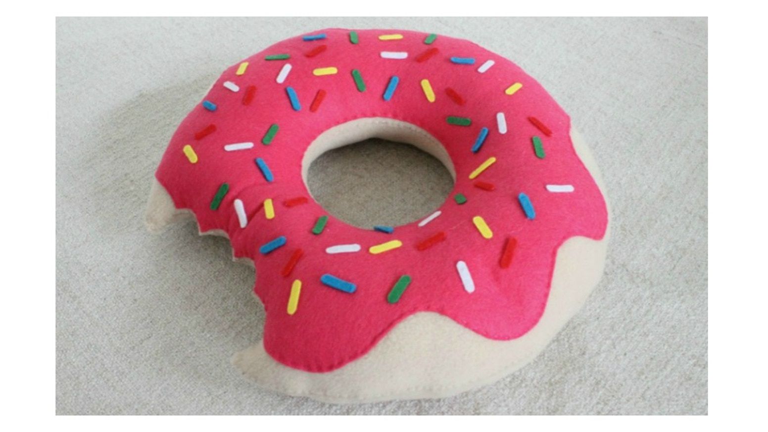 Delicious Handmade Doughnut Pillows For Christmas Fair By