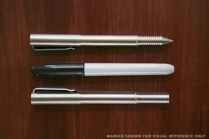 The deep post on the back of the body allows the pen to be nearly the same size at all times.
