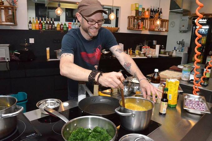 Cooking Show at Veganz Hamburg