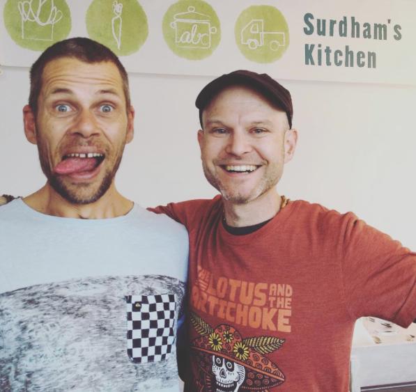 Surdham Göb & I at his kitchen in Munich