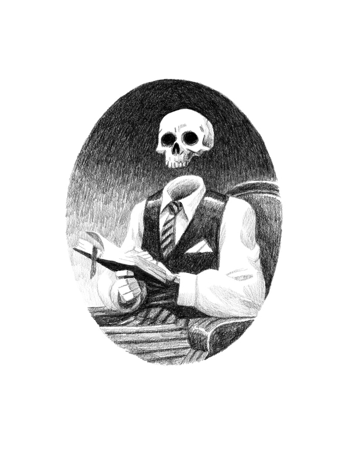 Portrait of the author as a young skeleton
