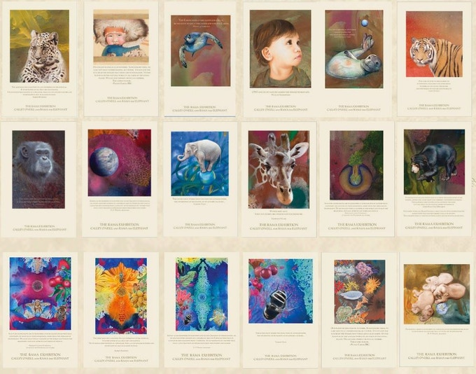 """Selection of 11"""" x 17"""" Rama Exhibition Posters"""