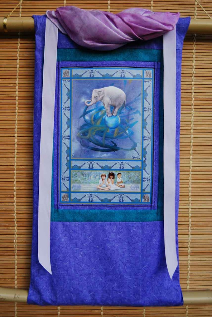 Handcrafted Wildlife Thangka - see more by clicking photo.