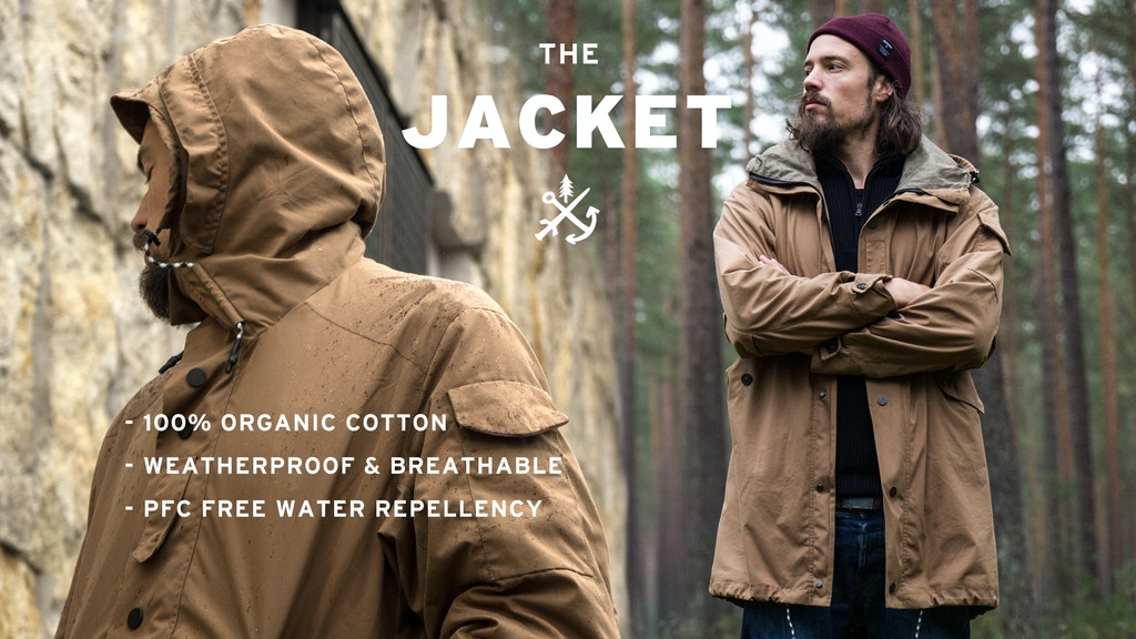 100% Organic Cotton Urban Outdoor Jacket by JECKYBENG project video thumbnail