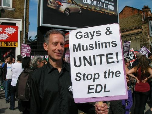 Still campaigning: Peter leads the LGBT Muslim Solidarity Campaign