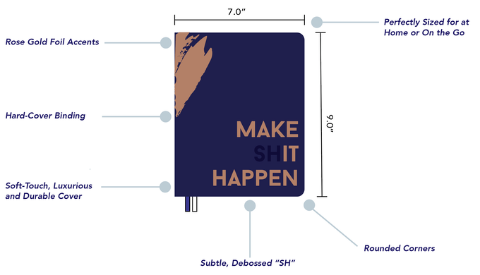 2017 make shit happen planner by amara and chelsea meraki printing start your year by dreaming big and brainstorming all you want to create and achieve in 2017 fandeluxe Gallery