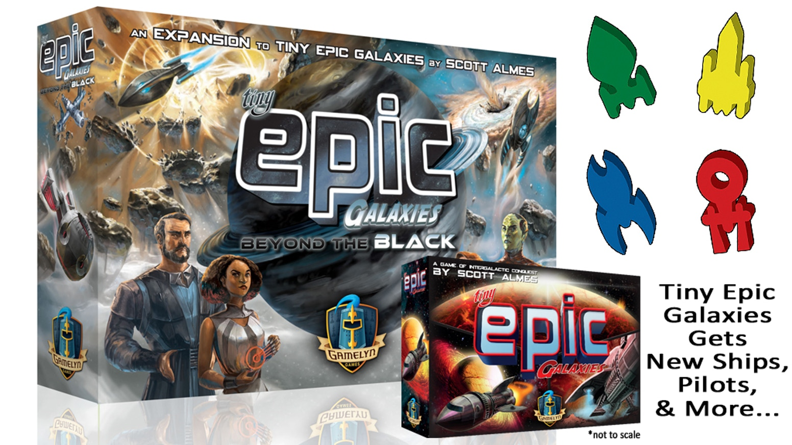 Tiny Epic Galaxies gets pilots, new ships, press-your-luck, and set collection in this full-box expansion! Take TEG to the next level!