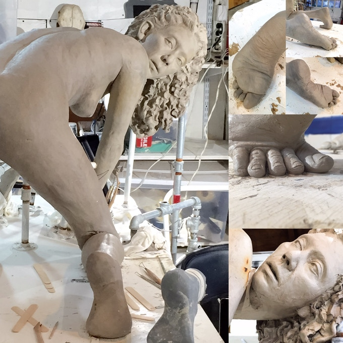 LIfe-Size Clay Figure to become solid clear Lucite.
