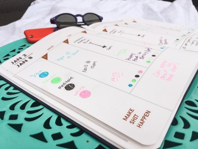 Kickstarter Calendar Planner : Make shit happen planner by amara and chelsea meraki