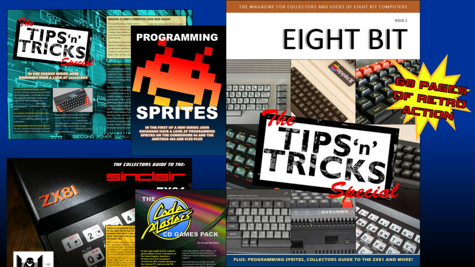 The magazine for 8-bit computer enthusiasts covering classic computers like the Apple II, Commodore 64, CPC, Sinclair Spectrum and more