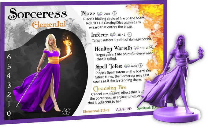 Each Sorcerer and Sorceress can remove detrimental effects from their team by using Cleansing Fire.