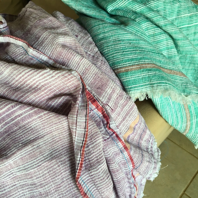 Khadi Throw colors (will be close to these)