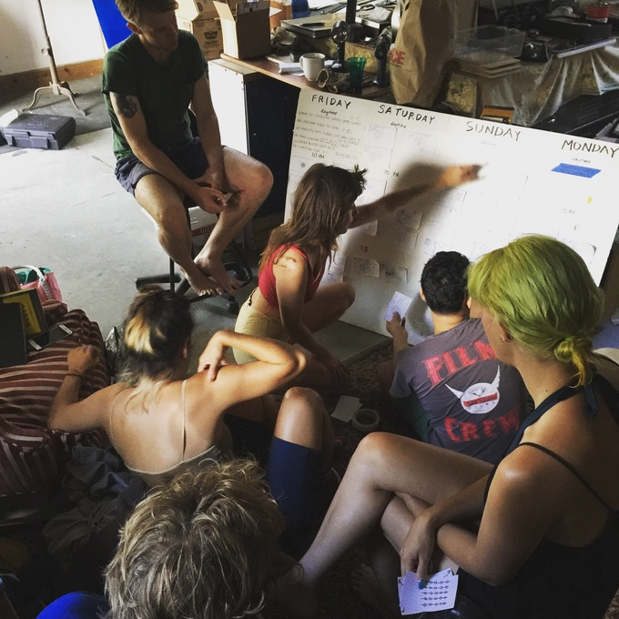 Discussing Storyboards with Crew