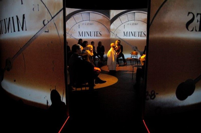 '10 Minutes to Midnight': Digital projections within an 8 metre cylinder. These are the centrepiece of our showcase (Photo Danni Marwick)