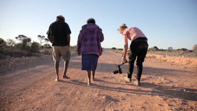 Making of 'Ngurini' – a collaboration with the Yalata community in remote South Australia (Photo by J. Boylan)