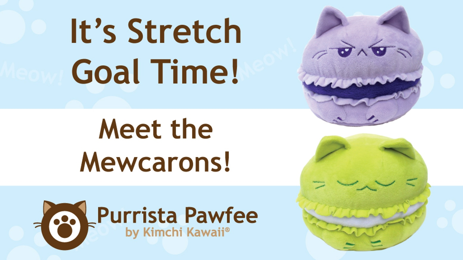 We're back with more of the Purrista Pawfee coffee shop plush cats! Meet Torta-shell and the lavender and green Mewcarons!