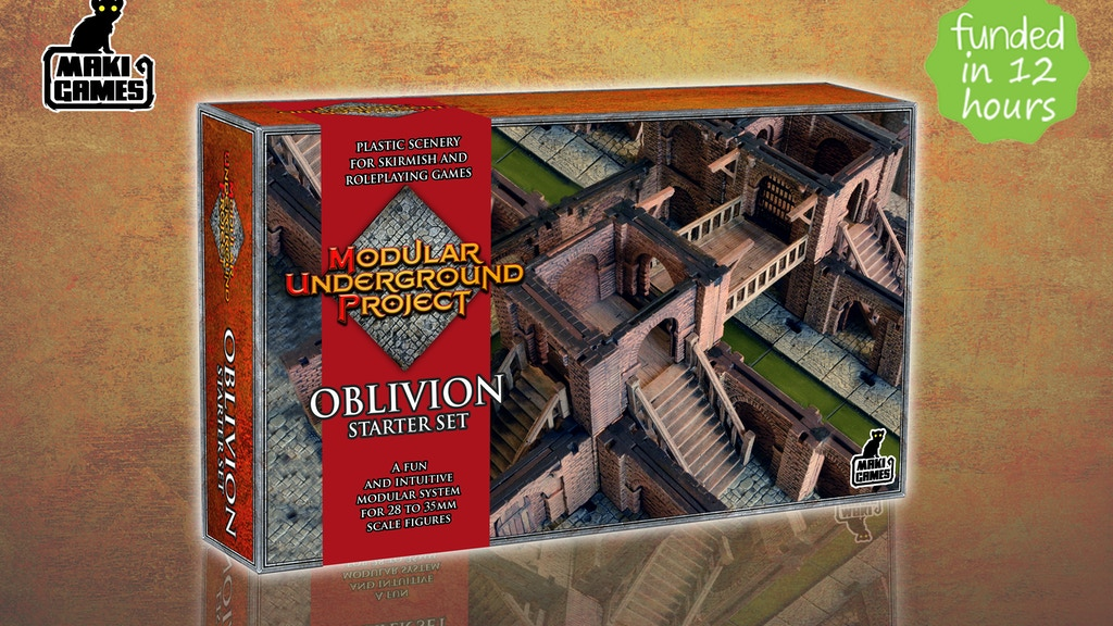 Modular Underground Project - 3D Dungeon Wargame Terrain project video thumbnail