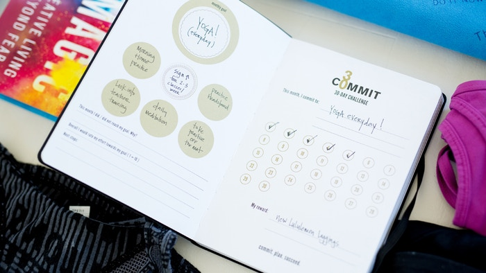 Commit30 Planner - A daily planner & goal-setting notebook designed to help you commit to your goals & dreams and design a life you love!