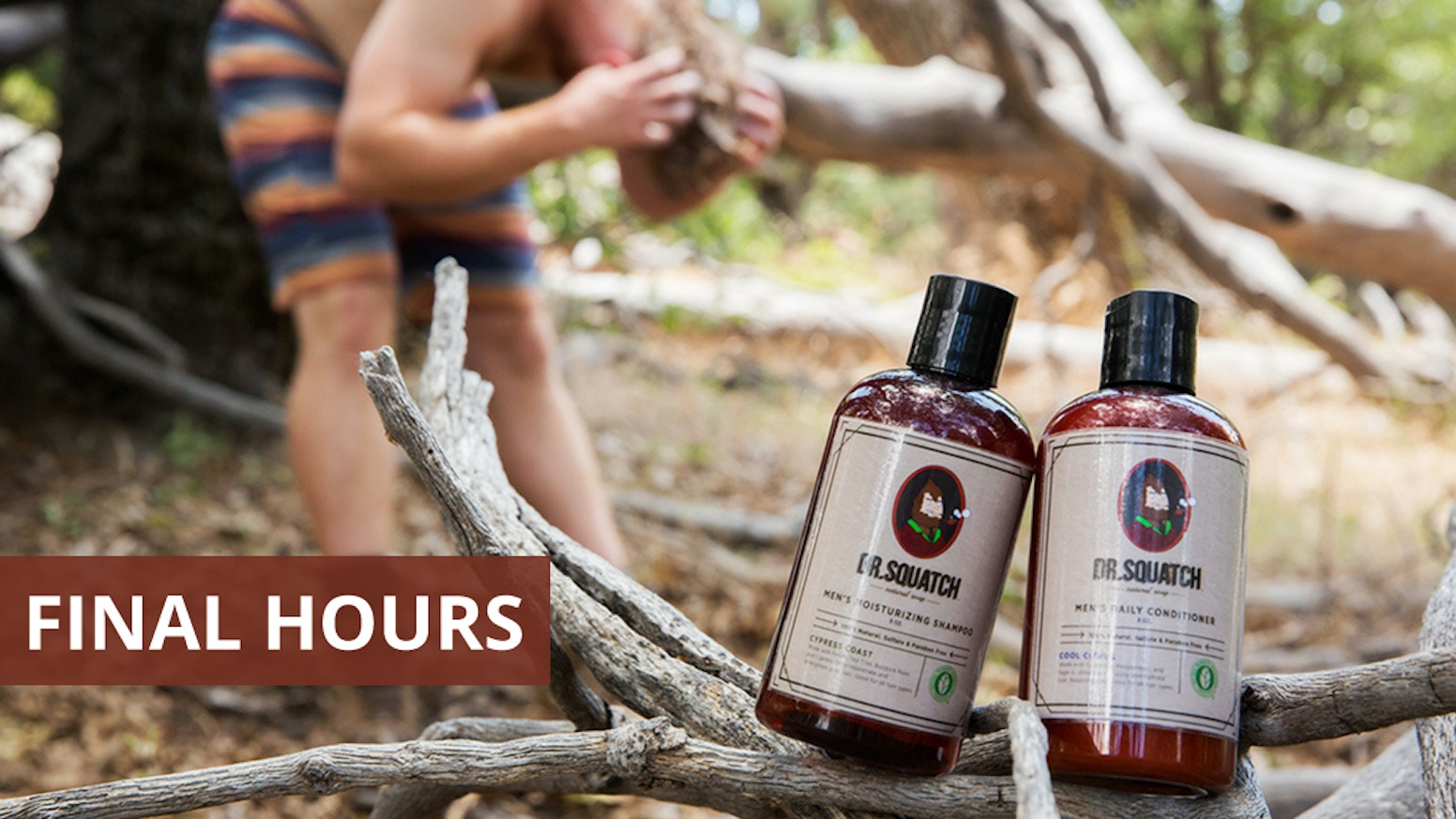 100% natural, NPA certified shampoo & conditioner for men.
