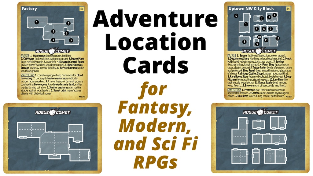 Adventure Location Cards for Fantasy, Modern, & Sci Fi RPGs project video thumbnail