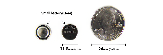 Replaceable Battery, Smaller than a Coin