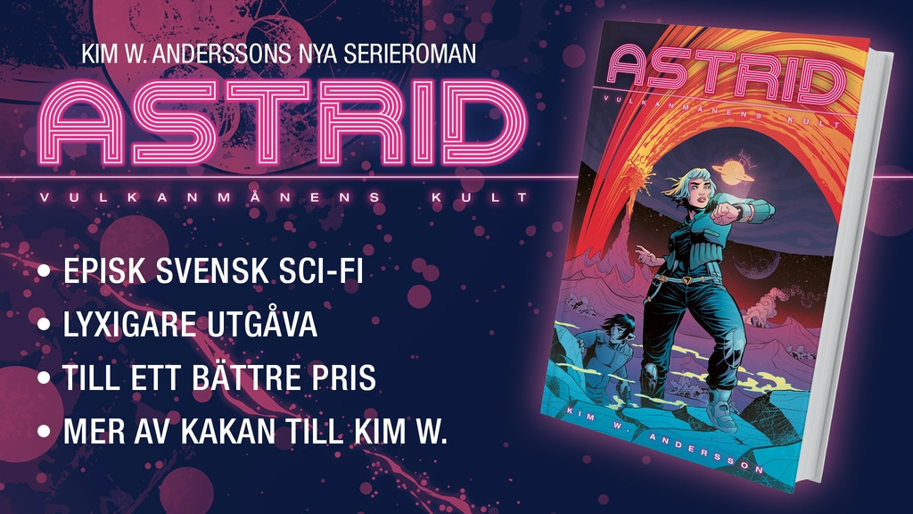 Kim W. Anderssons serieroman ASTRID: Vulkanmånens kult project video thumbnail