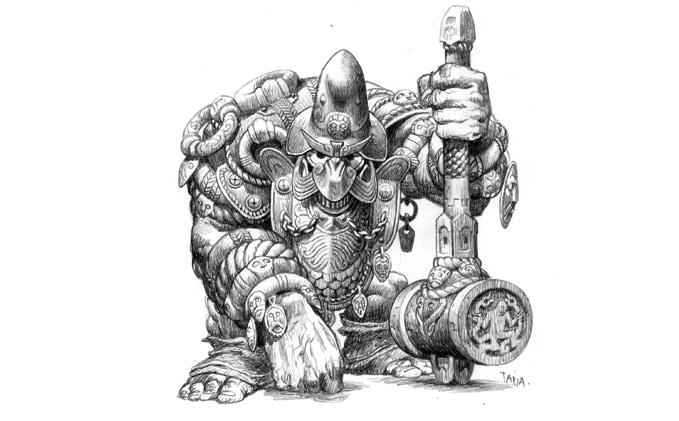 Full armoured dwarf