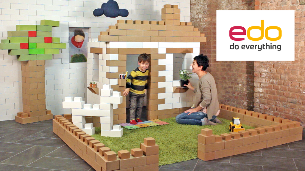 Edo – Life-sized cardboard bricks: giant fun for your kids. project video thumbnail