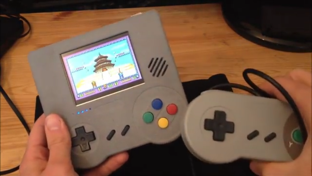 Raspi Boy : Retro handheld emulation console, electronic kit project video thumbnail