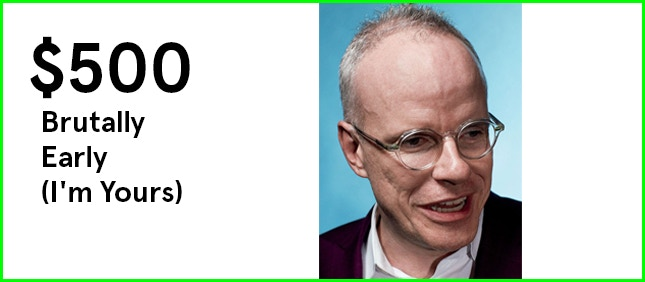 This reward is sold out. Another chance at a private Google Hangout with Hans Ulrich is available for $750.