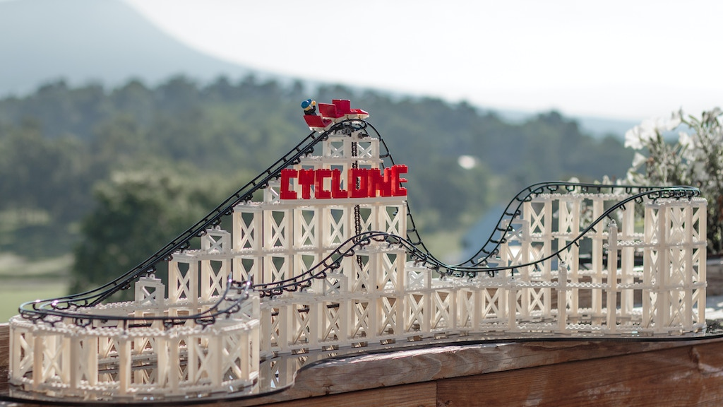 The Cyclone-LEGO® Compatible Roller Coaster Construction Toy project video thumbnail
