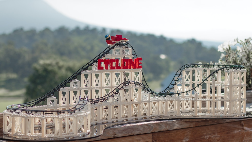 The Cyclone Lego 174 Compatible Roller Coaster Construction