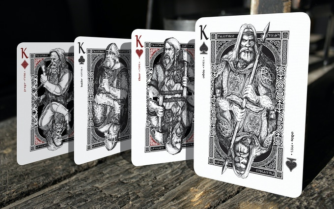 Kings represented by Freyr, Baldr, Thor and Odin