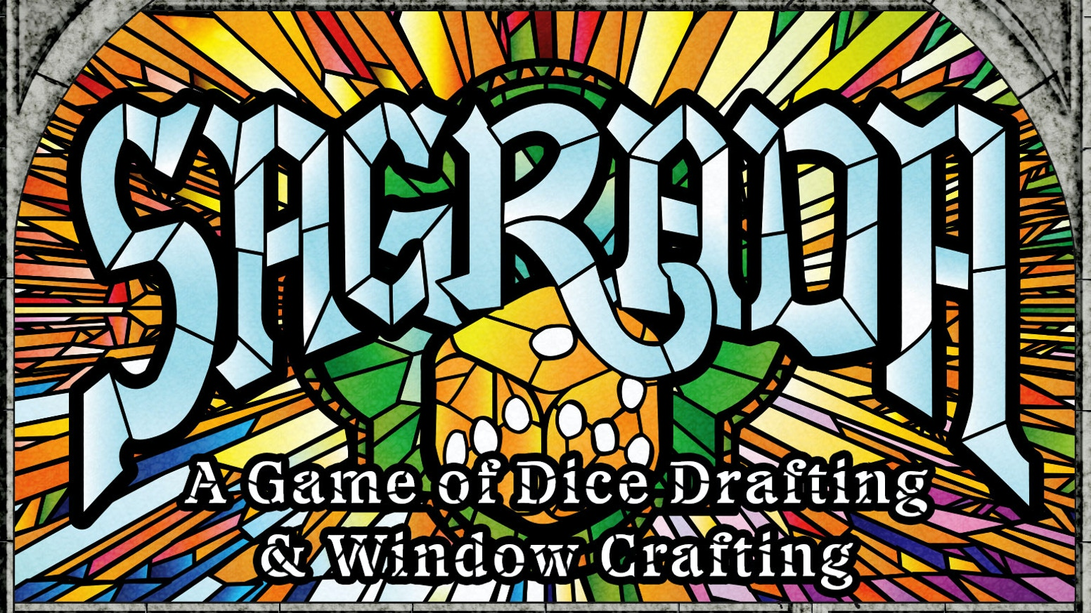Draft dice & use tools-of-the-trade to carefully construct your stained glass window masterpiece. 1 to 4 players, 30-45 minutes