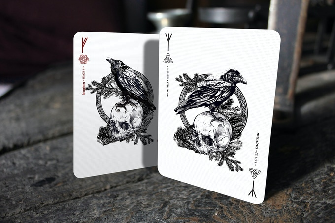 Jokers are represented by Huginn (Thought) and Muninn (Memory)
