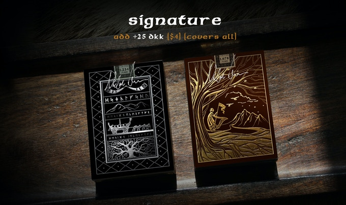 The +25 DKK will cover any or all of the decks in your pledge tier.
