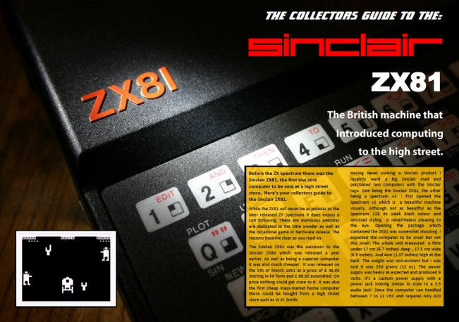 Collectors Guide to the Sinclair ZX81