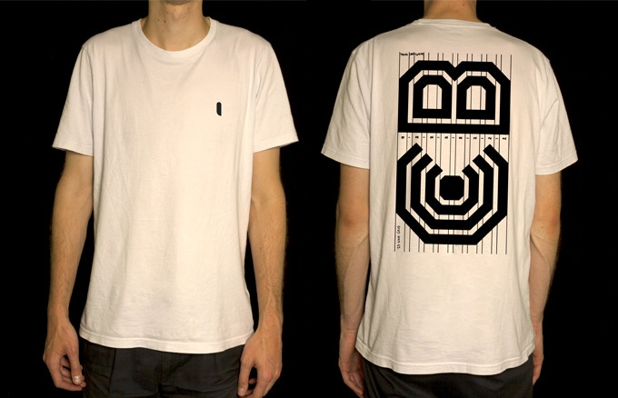Lance Wyman: The Visual Diaries 1973—1982 screen printed t-shirt featuring an initial sketch for the Washington Convention Centre