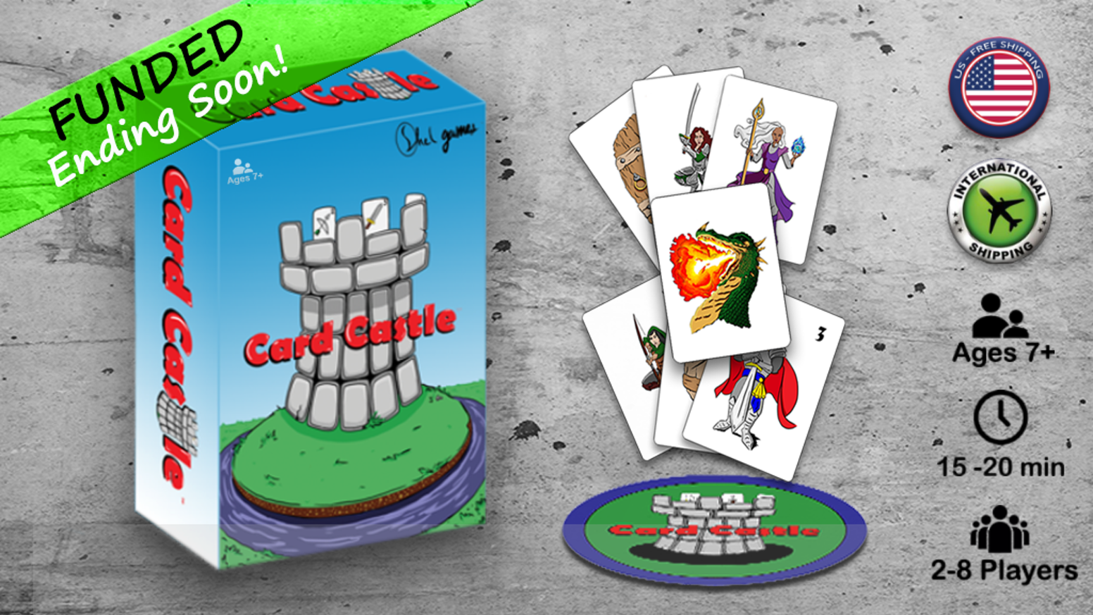 Card slapping game feat. battling medieval fantasy armies, powerful wizards, & fiery dragons! Great for party games or family nights! Visit us @ https://cardcastlegame.wordpress.com