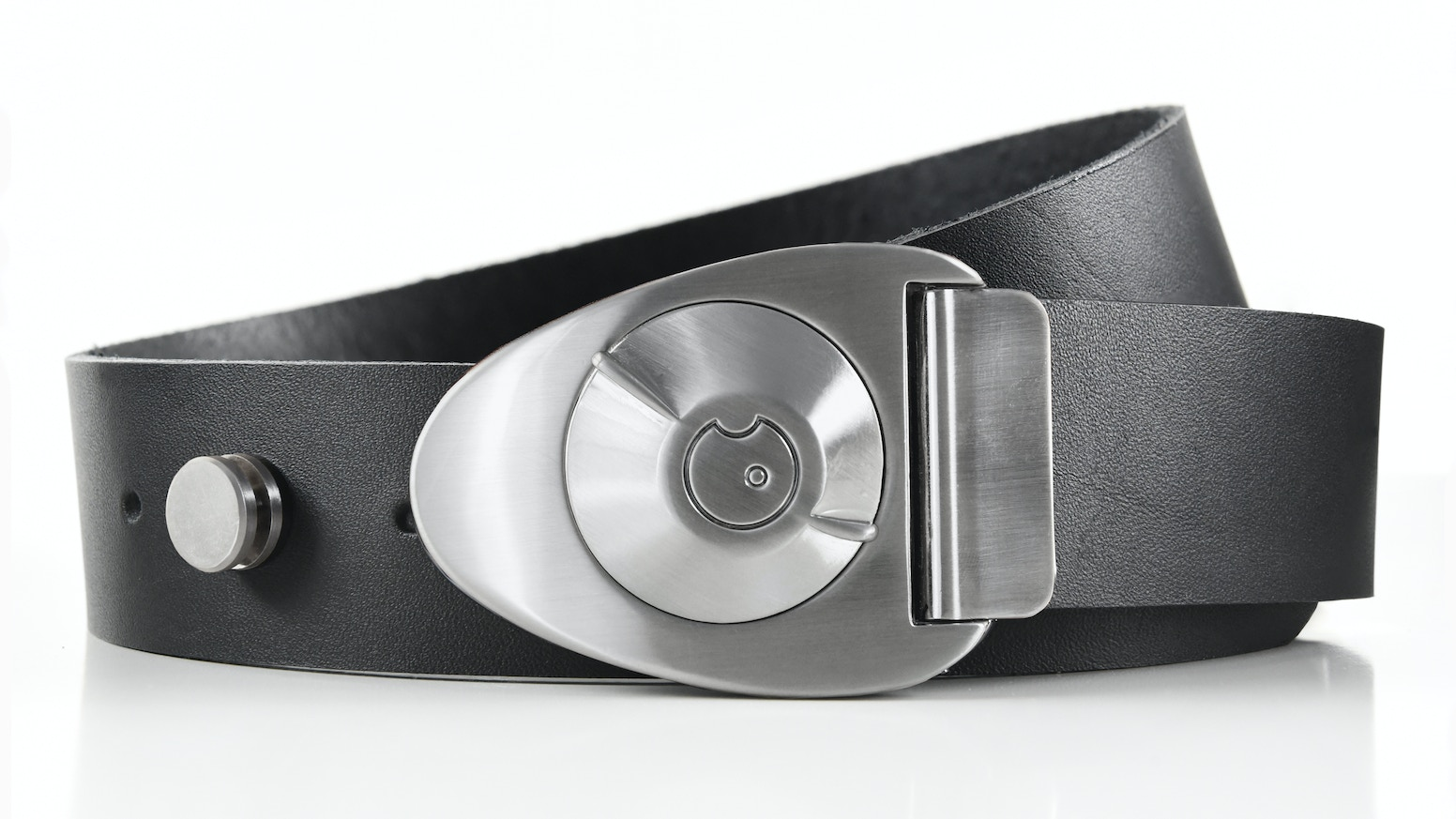 We make mechanical buckles with out of this world style! Simply turn the dial to open your belt. Hand-cut leather from Milwaukee, WI.